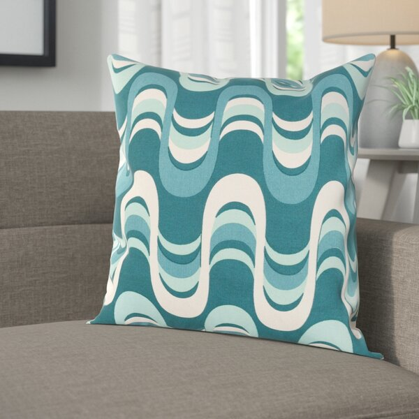 Arsdale Wave Cotton Throw Pillow Cover by Langley Street