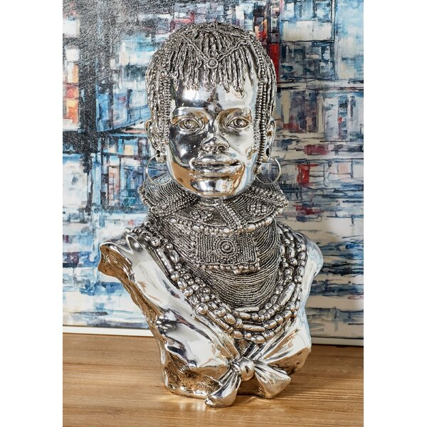 Cedro Modern Silver African Lady Bust by Bloomsbury Market