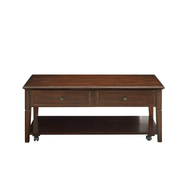 Shurtleff Floor Shelf Coffee Table With Storage By Red Barrel Studio
