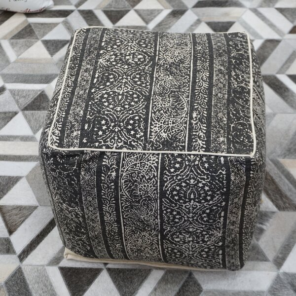 Alarins Cube Ottoman By World Menagerie