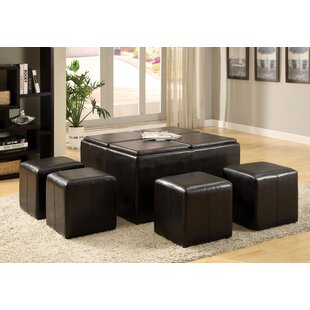 Lovely Turner 5 Piece Coffee Table Ottoman Set