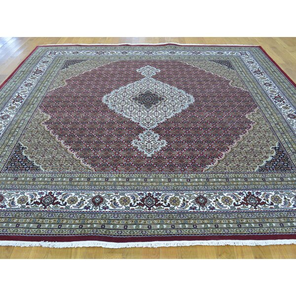 One-of-a-Kind Beaton Hand-Knotted Red Wool/Silk Area Rug by Isabelline