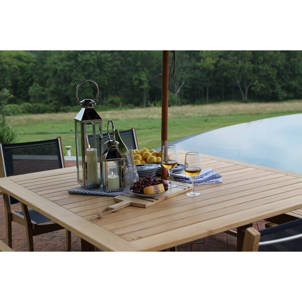 Earls Teak Dining Table by Rosecliff Heights