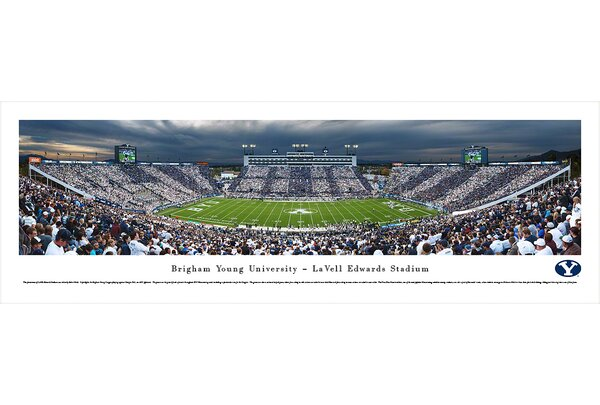 NCAA Brigham Young University - 50 Yard Line by Robert Pettit Photographic Print by Blakeway Worldwide Panoramas, Inc