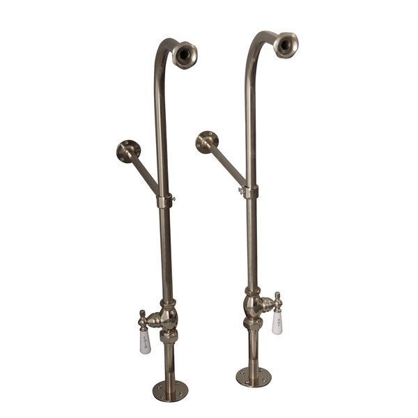 2 Piece Freestanding Bath Supplies with Stops by Barclay
