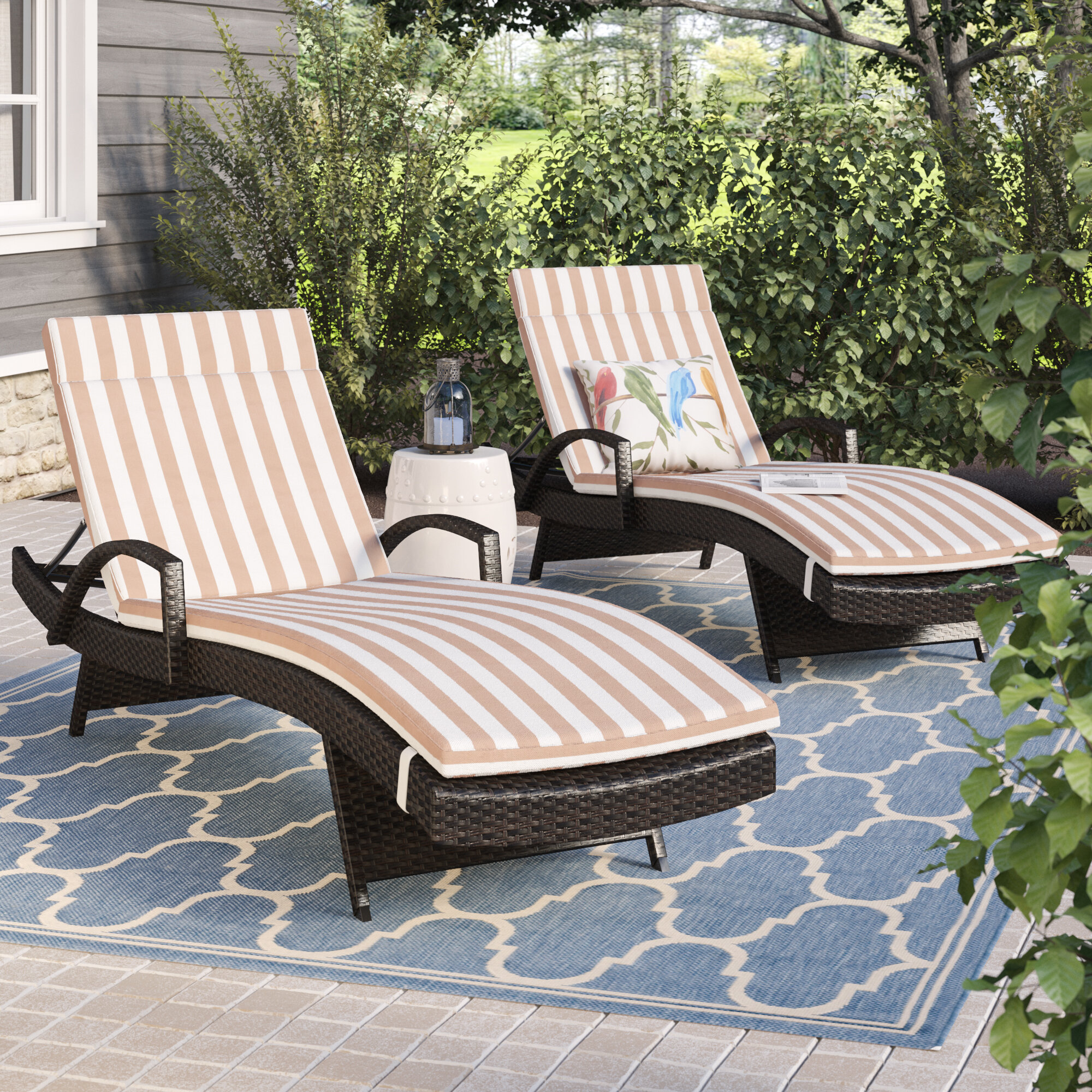 Rebello Outdoor Reclining Chaise Lounge