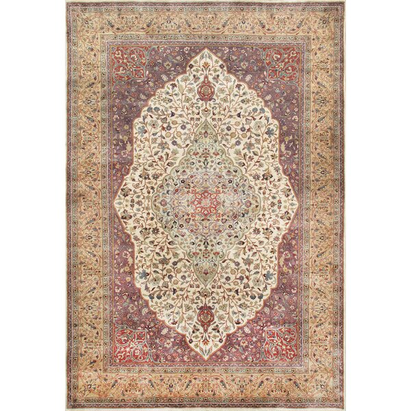 Tabriz Hand-Knotted Ivory/Camel Area Rug by Pasargad