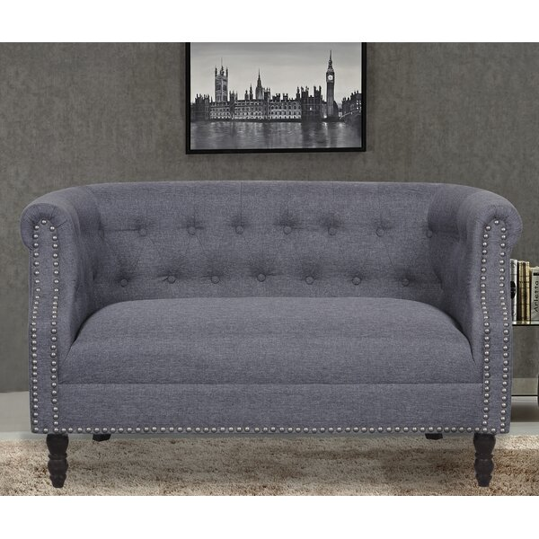 Stotfold Chesterfield Loveseat by Charlton Home