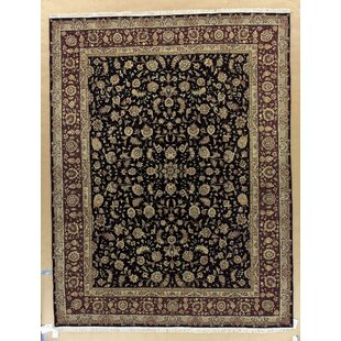 High-End Beason Hand-Woven Black Area Rug By Darby Home Co
