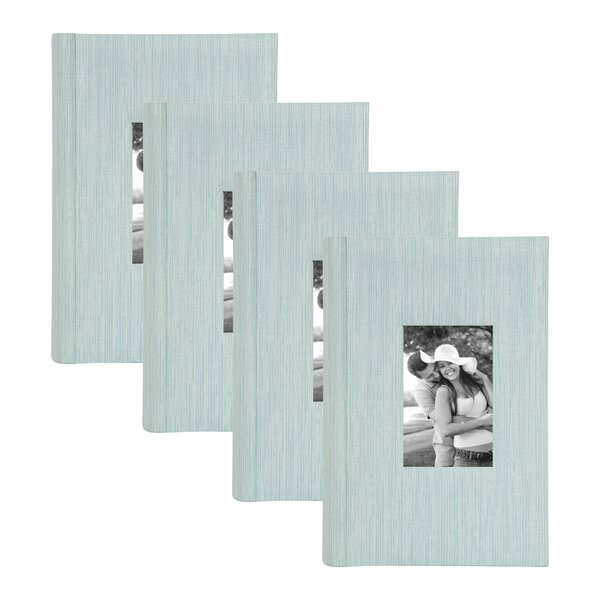 Textured 4 Piece Album Set by Darby Home Co
