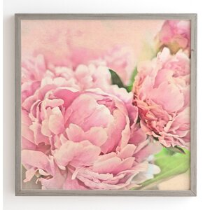 Pink Peonies Framed Graphic Art by House of Hampton