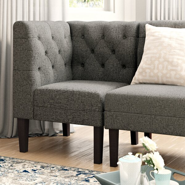 Urbana Upholstered Corner Bench by Darby Home Co