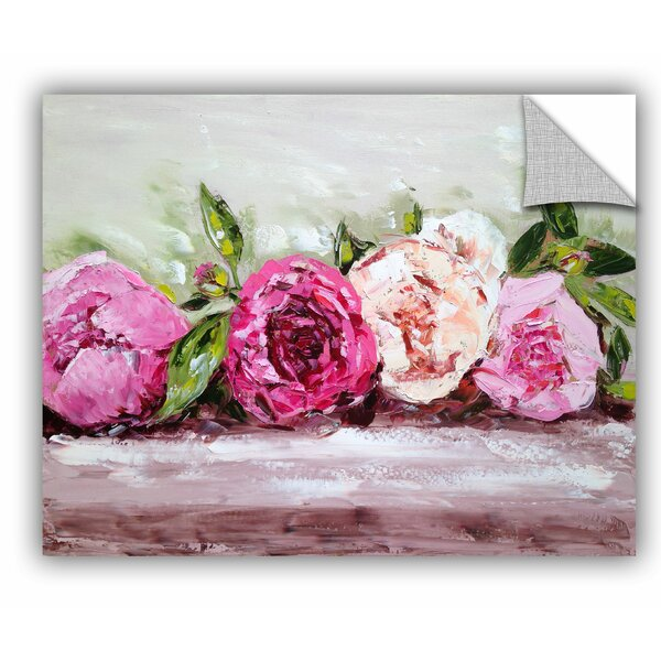 Row of Peonies Wall Mural by One Allium Way
