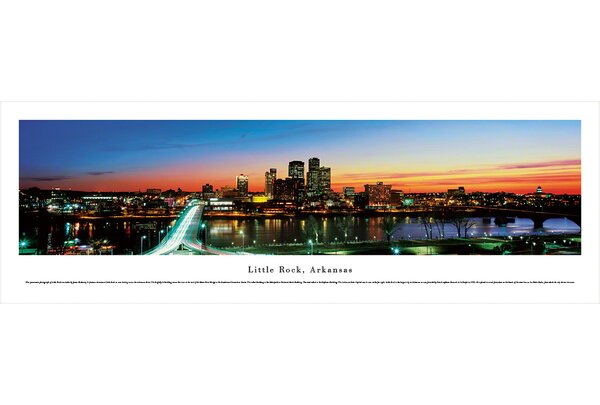 Little Rock, Arkansas by James Blakeway Photographic Print by Blakeway Worldwide Panoramas, Inc