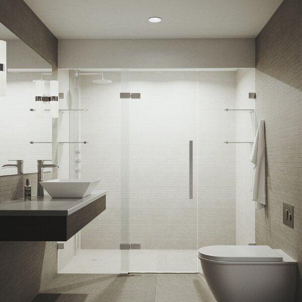 Seneca Adjustable 72.75 x 74 Hinged Frameless Shower Door by VIGO