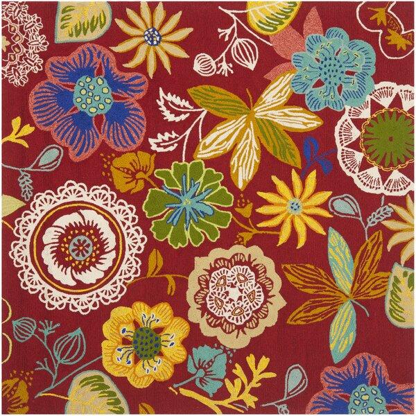 Hayes Floral Indoor/Outdoor Area Rug by Ebern Designs