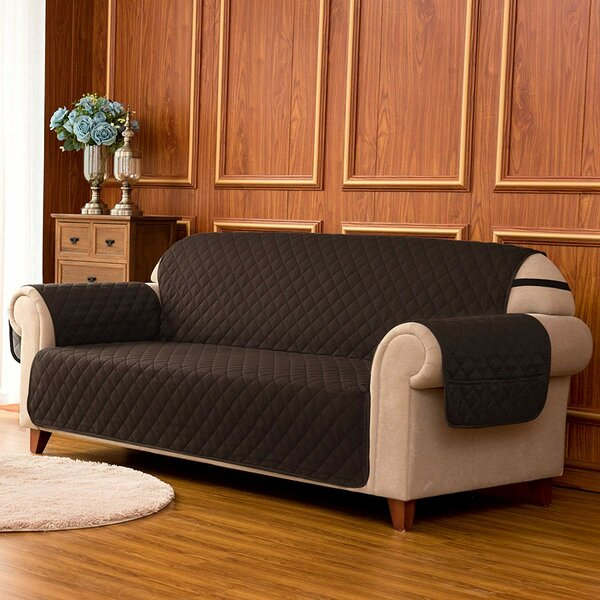Quilted Reversible Box Cushion Sofa Slipcover by Winston Porter