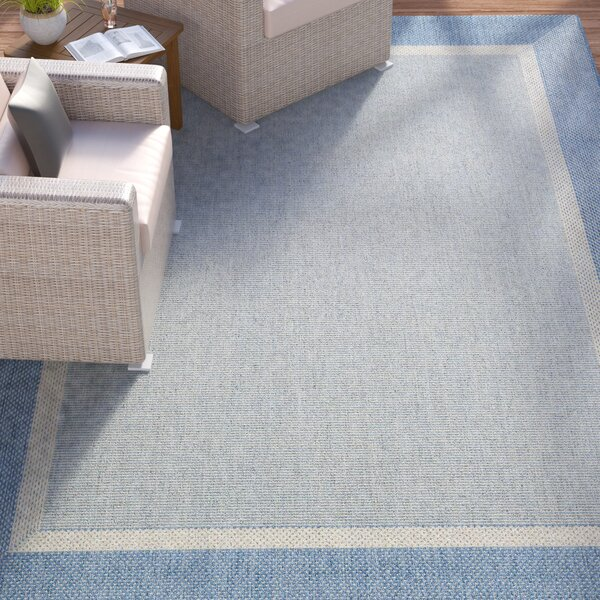 Linden Texture Blue/Gray Indoor Area Rug by Beachcrest Home