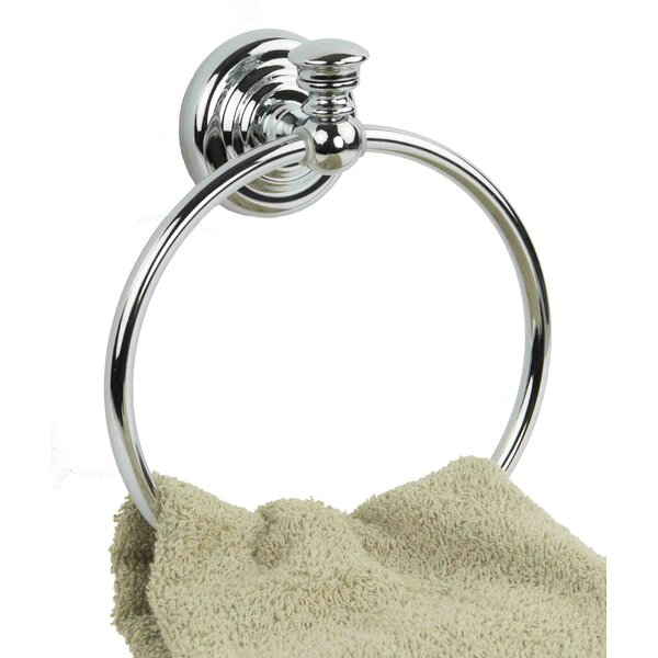 Wall Mounted Toilet Towel Ring by Home Basics