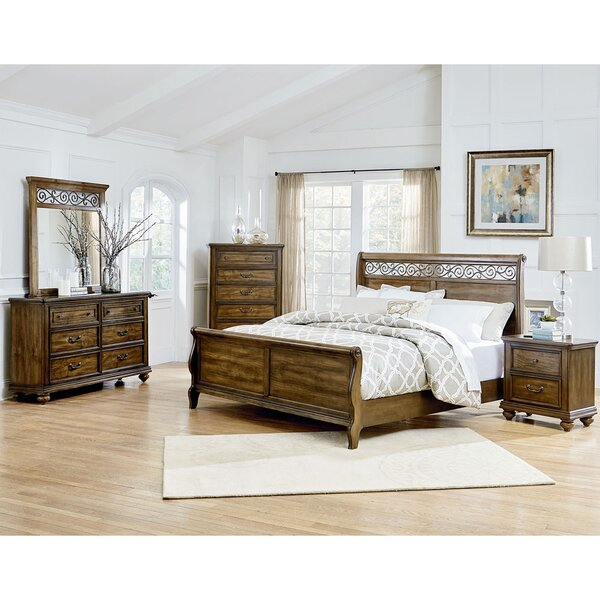 Troian Sleigh 5-Piece Bedroom Set by Darby Home Co