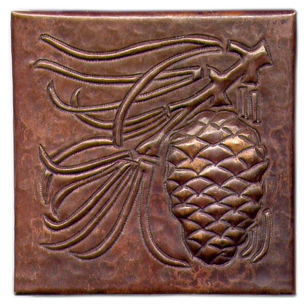 Pine Cone Large 4 x 4 Copper Tile in Dark Copper by D'Vontz