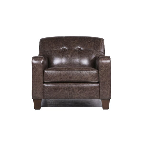 Daly Leather Club Chair by 17 Stories