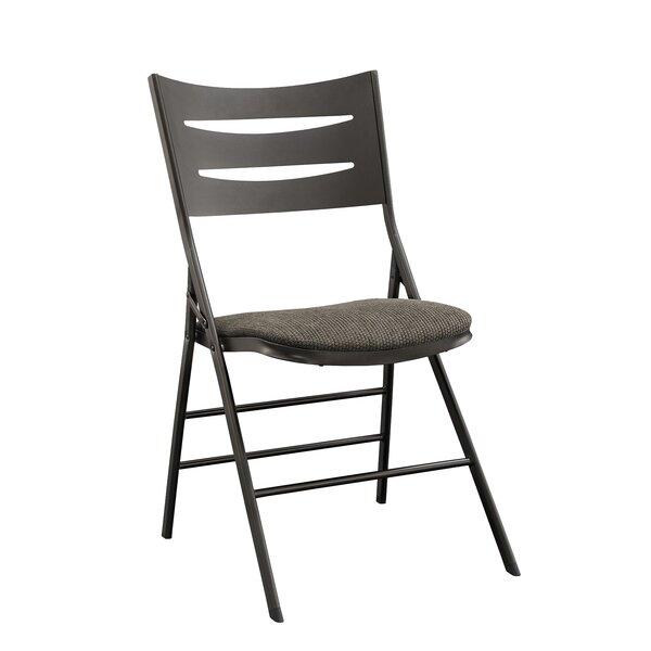 Destiny 3 Slat Back Fabric Padded Folding Chair (Set of 4) by MECO Corporation