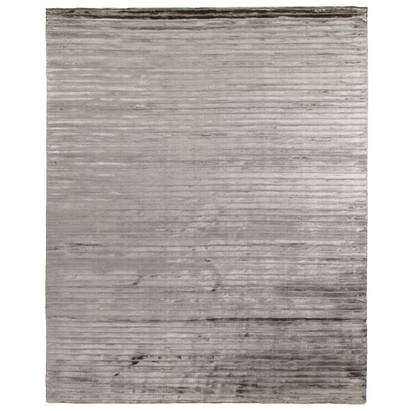 High Low Hand-Woven Dark Gray Area Rug by Exquisite Rugs