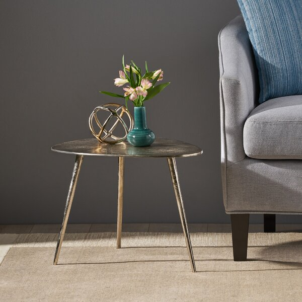 Review Plymouth Industrial Modern Aluminum End Table