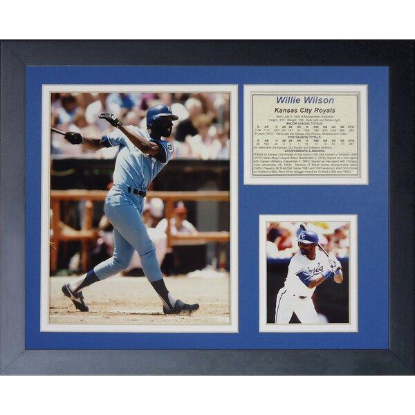 Willie Wilson Framed Memorabilia by Legends Never Die