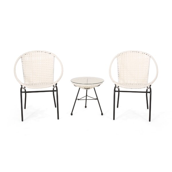Dione Outdoor Modern Seating Group Rattan by Wrought Studio