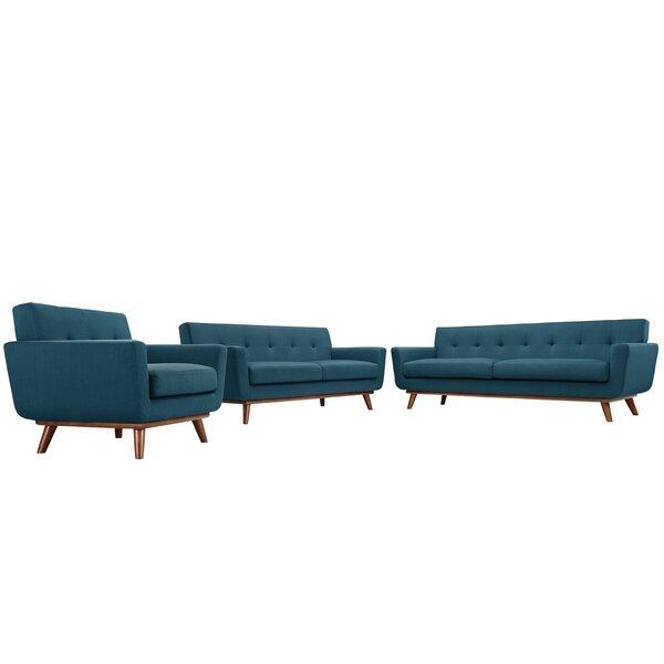 Saginaw 3 Piece Living Room Set by Corrigan Studio
