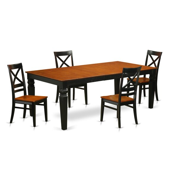 Beesley 5 Piece Solid Wood Dining Set by Darby Home Co Darby Home Co