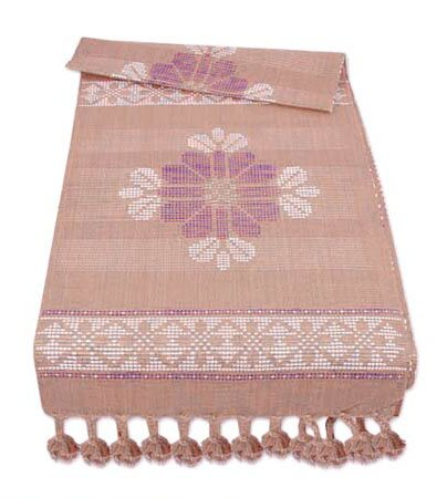 Thai Tribal Crafts Garden Table Rug by Novica