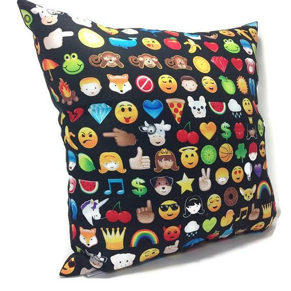 Emoticon Throw Pillow by East Urban Home