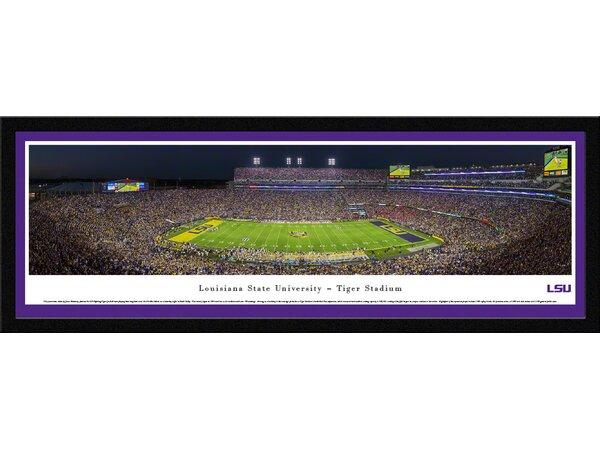 NCAA Louisiana State University by James Blakeway Framed Photographic Print by Blakeway Worldwide Panoramas, Inc