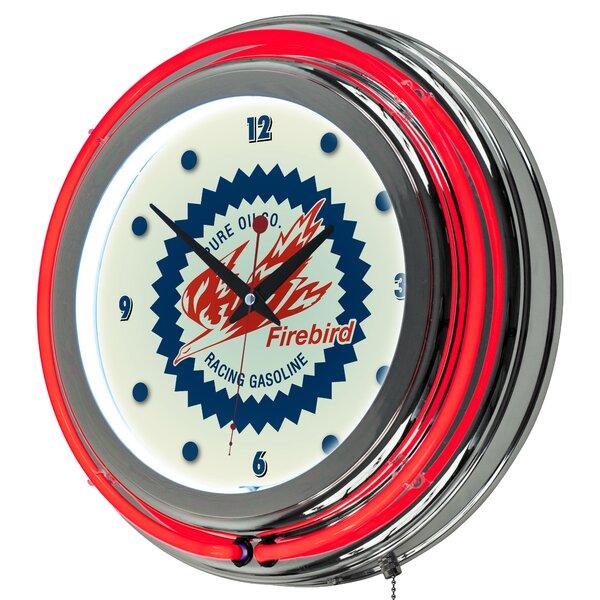 Pure Oil Firebird Neon 14.5 Wall Clock by Trademark Global
