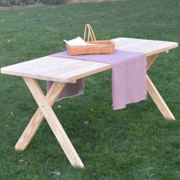 Rosendale Pine Cross-leg Picnic Table by Loon Peak