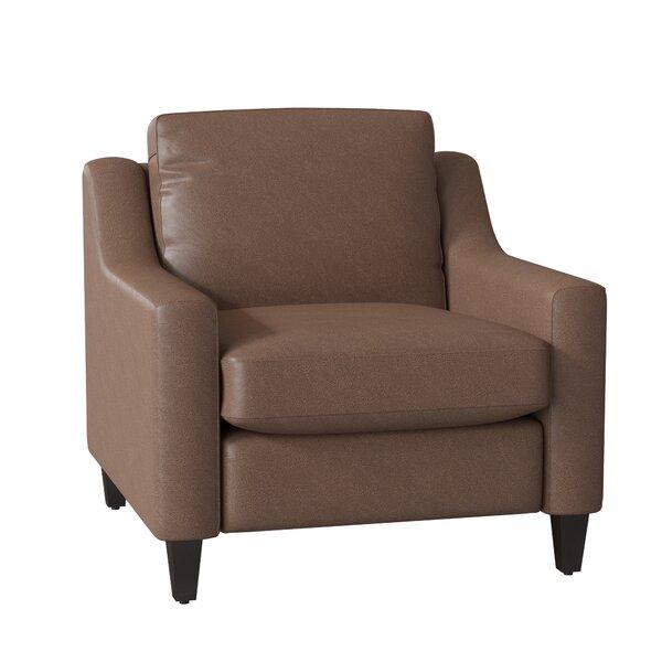 Jesper Leather Armchair By Wayfair Custom Upholstery™