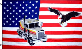 USA Truck Eagle Traditional Flag by Flags Importer