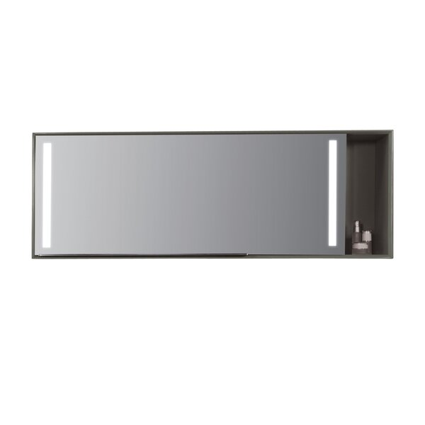 Stack Mirror 54 x 19.7 Surface Mount Medicine Cabinet with LED by Ronbow