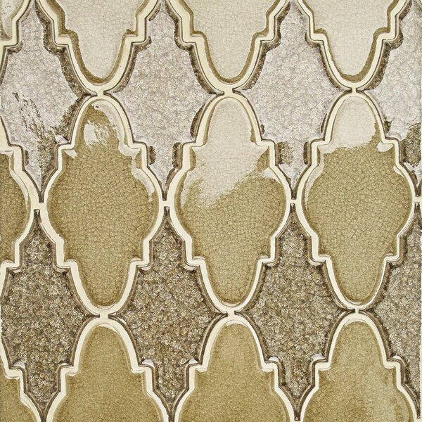 Roman Selection Glass Mosaic Tile in Iced Gold by Splashback Tile