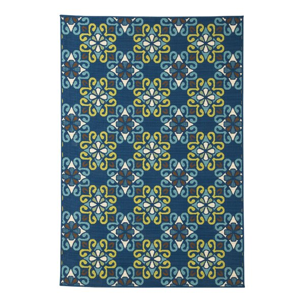 Columbia Navy Blue Indoor/Outdoor Area Rug by Latitude Run