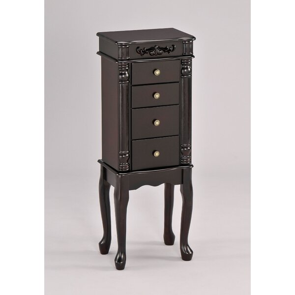 Tiana Free Standing Jewelry Armoire with Mirror by A&J Homes Studio