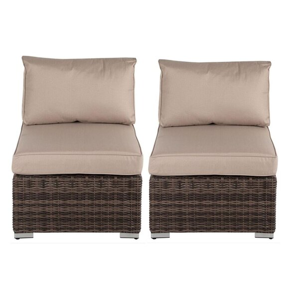 Odinkar 2 Piece Rattan Seating Group with Cushions (Set of 2) by Ebern Designs