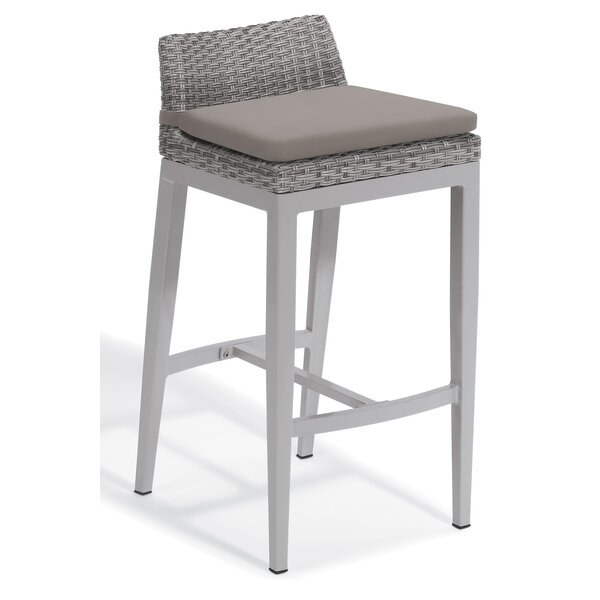 Saleem 29.25 Patio Bar Stool with Cushion by Brayden Studio