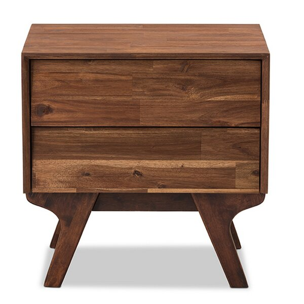 Truesdale Modern 2 Drawer Nightstand by Union Rustic