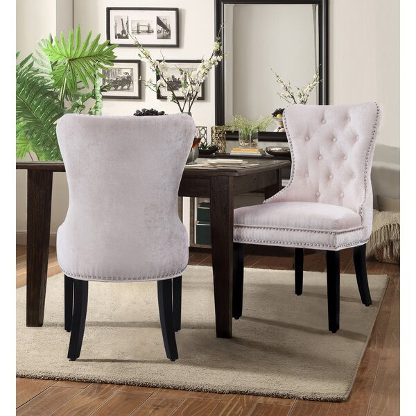 Loganne Upholstered Dining Chair (Set of 2) by Rosdorf Park