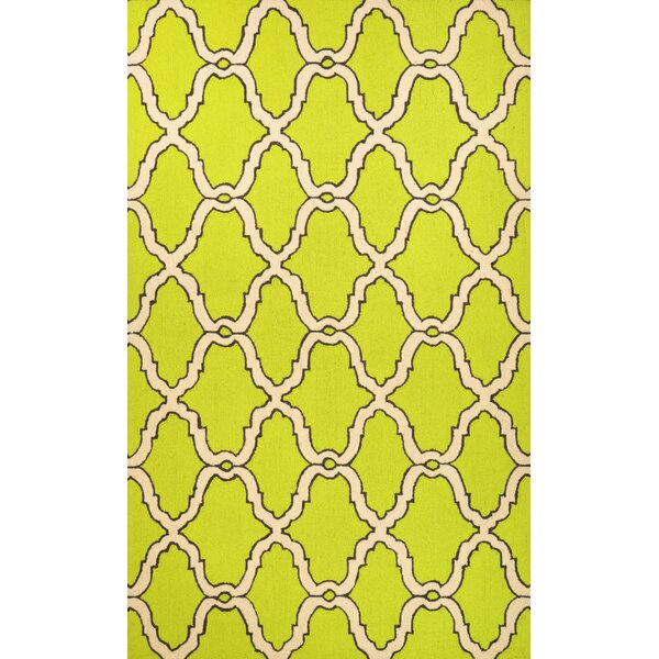 Beudan Hand-Hooked Wool Yellow Area Rug by Mercer41