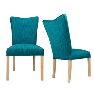 Politte Spring Seating Double Dow Upholstered Parsons Chair (Set of 2)